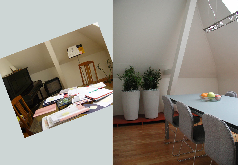 Raumdesign | d sein werke | Zürich | Impressionen vorher, nachher